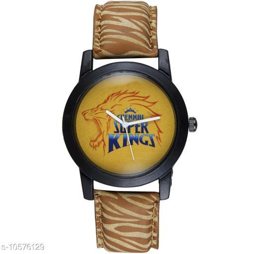 Trendy IPL Yellow Dial Strap Analog Wrist Watch