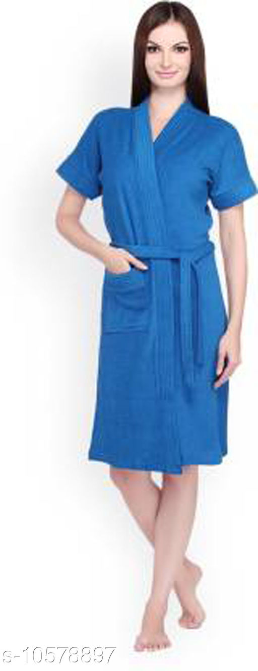 Trendy Cotton Women's Bathrobe