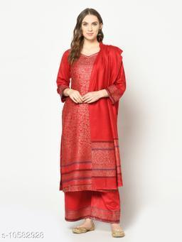 Safaa Acro Wool Woven Zari Suit & Dupatta (Unstiched) For Winter