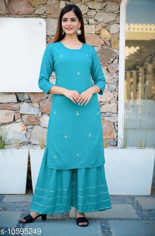 Mayur Enterprises Presenting New design KURTA & SHARARA SET for girls&women