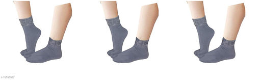 Pinkit Women's Winter Thick Warm Fleece Lined Thermal Stretchy Elastic Velvet Socks (With Thumb) (FreeSize) - 3 Pairs