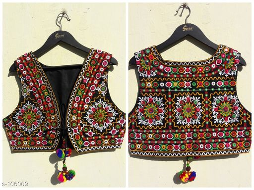 Ethnic Jackets & Shrugs Classic Cotton Jacket  *Fabric* Cotton   *Sleeves* Sleeves Are Not Included   *Size* S - 36 in, M - 38 in, L - 40 in, XL - 42 in   *Length* Up to 20 in   *Type* Stitched   *Description* It Has 1 Piece of Jacket   *Work* Kutchi Work  *Sizes Available* XS, S, M, L *   Catalog Rating: ★4.3 (140)  Catalog Name:  Kutchian Fancy Jackets Vol 1 CatalogID_10484 C74-SC1008 Code: 093-106009-