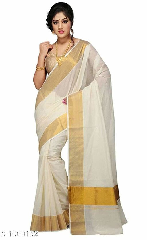 Stylish Cotton Zari Saree