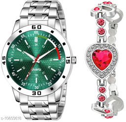 K25 & J8 Pack of 2 Attractive Unique Dial With Unique And Exclusive New Analog Watches For Men & Women Bracelet