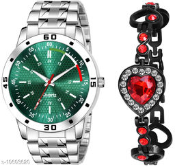 K25 & J19 Pack of 2 Attractive Unique Dial With Unique And Exclusive New Analog Watches For Men & Women Bracelet