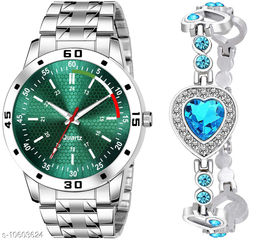 K25 & J7 Pack of 2 Attractive Unique Dial With Unique And Exclusive New Analog Watches For Men & Women Bracelet
