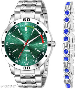 K25 & J1 Pack of 2 Attractive Unique Dial With Unique And Exclusive New Analog Watches For Men & Women Bracelet