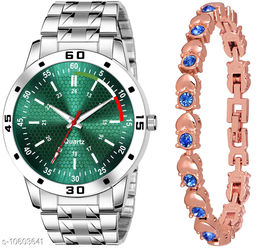 K25 & J10 Pack of 2 Attractive Unique Dial With Unique And Exclusive New Analog Watches For Men & Women Bracelet