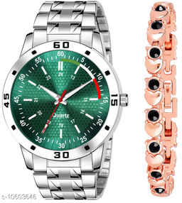K25 & J20 Pack of 2 Attractive Unique Dial With Unique And Exclusive New Analog Watches For Men & Women Bracelet