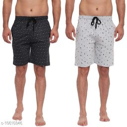FTX Men's Solid Woven Cotton Shorts - Pack of 2 (714-1_714-4)