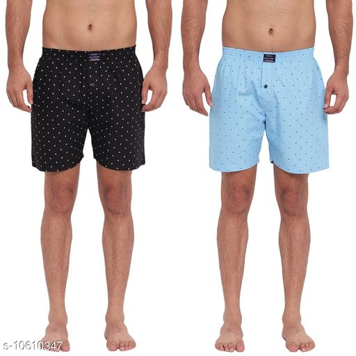 FTX Men's Solid Woven Cotton Shorts - Pack of 2 (508-1_508-10)