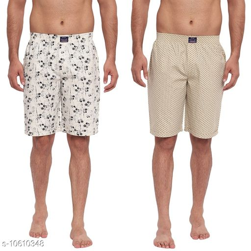 FTX Men's Solid Woven Cotton Shorts - Pack of 2 (509-5_509-6)