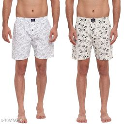 FTX Men's Solid Woven Cotton Shorts - Pack of 2 (508-6_508-7)