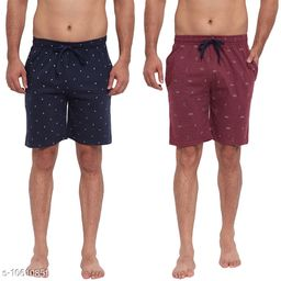 FTX Men's Solid Woven Cotton Shorts - Pack of 2 (714-5_714-6)