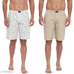 FTX Men's Solid Woven Cotton Shorts - Pack of 2 (509-2_509-6)