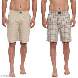 FTX Men's Solid Woven Cotton Shorts - Pack of 2 (509-6_509-7)