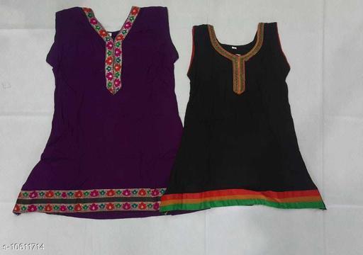 Tops & Tunics RAYON KURTHA  *Fabric* Cotton  *Multipack* Single  *Sizes*  3-4 Years  *Sizes Available* 3-4 Years *    Catalog Name: Cute Trendy Girls Tops & Tunics CatalogID_1943815 C62-SC1142 Code: 062-10611714-