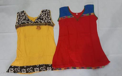 Tops & Tunics RAYON KURTHA  *Fabric* Cotton  *Multipack* Single  *Sizes*  3-4 Years  *Sizes Available* 3-4 Years *    Catalog Name: Cute Trendy Girls Tops & Tunics CatalogID_1943815 C62-SC1142 Code: 062-10611715-