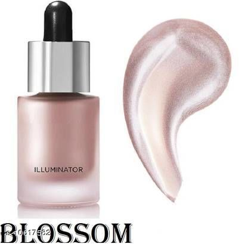 GLOWY face & Body Luminizer Bronzer Iconic Liquid  Highlighter (04 BLOOSOM)