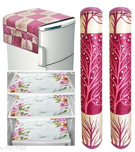 Fridge Covers Designer Fridge Combos  *Material* PVC  *Pack* Multipack  *Sizes Available* Free Size *    Catalog Name: Stylo Fridge Combos CatalogID_1945495 C131-SC1623 Code: 503-10617923-