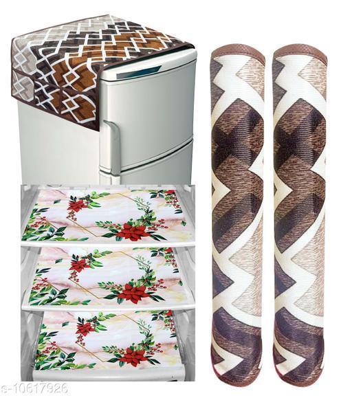Fridge Covers Designer Fridge Combos  *Material* PVC  *Pack* Multipack  *Sizes Available* Free Size *    Catalog Name: Stylo Fridge Combos CatalogID_1945495 C131-SC1623 Code: 503-10617926-