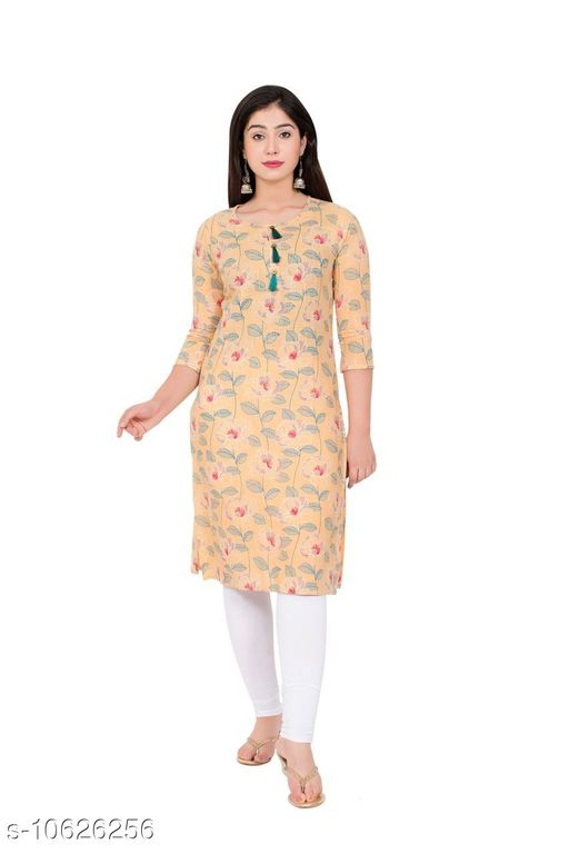 Kurtis & Kurtas Couture Houre Women Rayon R-Neck  Straight  Plain Kurti  *Fabric* Rayon  *Sleeve Length* Three-Quarter  *Pattern * Embroiderry  *Neck * Round  *Combo of* Single  *Sizes* XL (Bust Size  *Sizes Available* Semi Stitched *    Catalog Name: Couture Houre Women Rayon R-Neck  Straight  Plain Kurti CatalogID_1947681 C74-SC1001 Code: 665-10626256-
