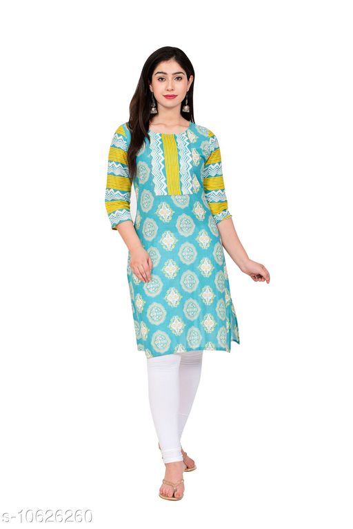 Kurtis & Kurtas Couture Houre Women Rayon R-Neck  Straight  Plain Kurti  *Fabric* Rayon  *Sleeve Length* Three-Quarter  *Pattern * Embroiderry  *Neck * Round  *Combo of* Single  *Sizes* XL (Bust Size  *Sizes Available* Semi Stitched *    Catalog Name: Couture Houre Women Rayon R-Neck  Straight  Plain Kurti CatalogID_1947681 C74-SC1001 Code: 665-10626260-