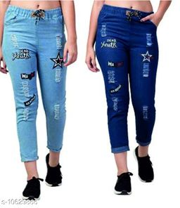 Martin Joggers Fit Women Denim Combo Blue Jeans For Girls(Pack of 2)