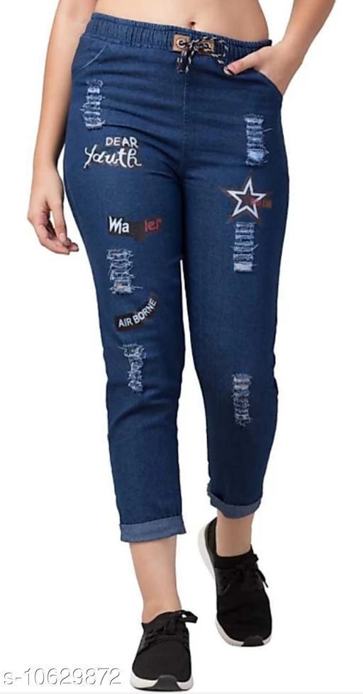Martin Joggers Fit Women Denim Dark Blue Jeans For Girls