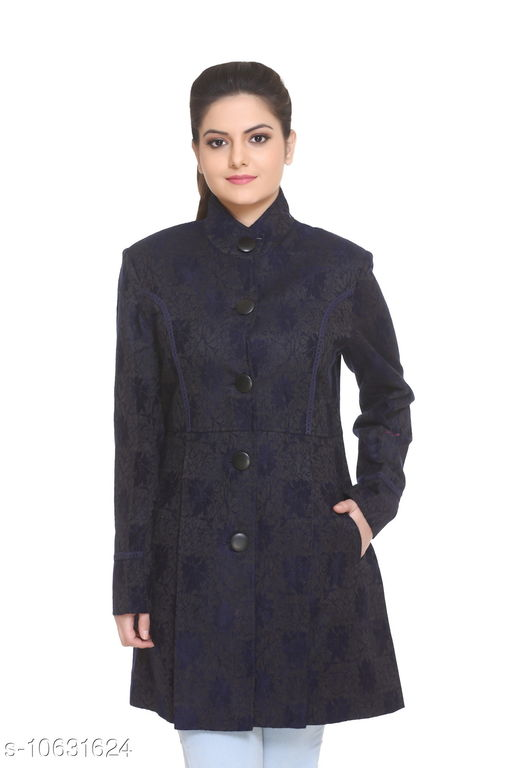 HANG N HOLD Women Cotton Blend Regular Fit High Neck Full Sleeve Winter Cardigan