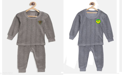 Thermals Kid's Unisex Thermal Set Pack Of 2 Fabric: Cotton Sleeve Length: Long Sleeves Type: Set Multipack: 2 Sizes:  3-6 Months (Top Bust Size: 14 in, Top Length Size: 14 in, Bottom Waist Size: 14 in, Bottom Length Size: 14 in, Bottom Hip Size: 14 in)  4-5 Years (Top Bust Size: 26 in, Top Length Size: 26 in, Bottom Waist Size: 26 in, Bottom Length Size: 26 in, Bottom Hip Size: 26 in)  3-4 Years (Top Bust Size: 26 in, Top Length Size: 26 in, Bottom Waist Size: 24 in, Bottom Length Size: 24 in, Bottom Hip Size: 24 in)  6-12 Months (Top Bust Size: 16 in, Top Length Size: 16 in, Bottom Waist Size: 16 in, Bottom Length Size: 16 in, Bottom Hip Size: 16 in)  12-18 Months (Top Bust Size: 18 in, Top Length Size: 18 in, Bottom Waist Size: 18 in, Bottom Length Size: 18 in, Bottom Hip Size: 18 in)  18-24 Months (Top Bust Size: 20 in, Top Length Size: 20 in, Bottom Waist Size: 20 in, Bottom Length Size: 20 in, Bottom Hip Size: 20 in)  2-3 Years (Top Bust Size: 22 in, Top Length Size: 22 in, Bottom Waist Size: 22 in, Bottom Length Size: 22 in, Bottom Hip Size: 22 in)  Sizes Available: 2-3 Years, 3-4 Years, 4-5 Years, 3-6 Months, 6-12 Months, 9-12 Months, 12-18 Months, 18-24 Months, 0-1 Years, 1-2 Years *Proof of Safe Delivery! Click to know on Safety Standards of Delivery Partners- https://ltl.sh/y_nZrAV3  Catalog Rating: ★3.8 (558)  Catalog Name: Smarty Casual Kids Girls Thermals CatalogID_1949055 C62-SC1163 Code: 634-10631806-