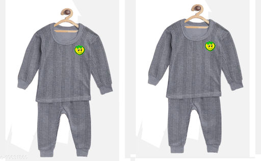 Thermals Kid's Unisex Thermal Set Pack Of 2 Fabric: Cotton Sleeve Length: Long Sleeves Type: Set Multipack: 2 Sizes:  3-6 Months (Top Bust Size: 14 in, Top Length Size: 14 in, Bottom Waist Size: 14 in, Bottom Length Size: 14 in, Bottom Hip Size: 14 in)  4-5 Years (Top Bust Size: 26 in, Top Length Size: 26 in, Bottom Waist Size: 26 in, Bottom Length Size: 26 in, Bottom Hip Size: 26 in)  3-4 Years (Top Bust Size: 26 in, Top Length Size: 26 in, Bottom Waist Size: 24 in, Bottom Length Size: 24 in, Bottom Hip Size: 24 in)  6-12 Months (Top Bust Size: 16 in, Top Length Size: 16 in, Bottom Waist Size: 16 in, Bottom Length Size: 16 in, Bottom Hip Size: 16 in)  12-18 Months (Top Bust Size: 18 in, Top Length Size: 18 in, Bottom Waist Size: 18 in, Bottom Length Size: 18 in, Bottom Hip Size: 18 in)  18-24 Months (Top Bust Size: 20 in, Top Length Size: 20 in, Bottom Waist Size: 20 in, Bottom Length Size: 20 in, Bottom Hip Size: 20 in)  2-3 Years (Top Bust Size: 22 in, Top Length Size: 22 in, Bottom Waist Size: 22 in, Bottom Length Size: 22 in, Bottom Hip Size: 22 in)  Sizes Available: 2-3 Years, 3-4 Years, 4-5 Years, 3-6 Months, 6-9 Months, 6-12 Months, 9-12 Months, 12-18 Months, 18-24 Months, 0-1 Years, 1-2 Years *Proof of Safe Delivery! Click to know on Safety Standards of Delivery Partners- https://ltl.sh/y_nZrAV3  Catalog Rating: ★3.8 (558)  Catalog Name: Smarty Casual Kids Girls Thermals CatalogID_1949055 C62-SC1163 Code: 634-10631860-