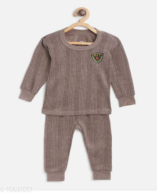 Thermals Kid's Unisex Thermal Set  Fabric: Cotton Sleeve Length: Long Sleeves Type: Set Multipack: 1 Sizes:  3-6 Months (Top Bust Size: 14 in, Top Length Size: 14 in, Bottom Waist Size: 14 in, Bottom Length Size: 14 in, Bottom Hip Size: 14 in)  4-5 Years (Top Bust Size: 26 in, Top Length Size: 26 in, Bottom Waist Size: 26 in, Bottom Length Size: 26 in, Bottom Hip Size: 26 in)  3-4 Years (Top Bust Size: 26 in, Top Length Size: 26 in, Bottom Waist Size: 24 in, Bottom Length Size: 24 in, Bottom Hip Size: 24 in)  6-12 Months (Top Bust Size: 16 in, Top Length Size: 16 in, Bottom Waist Size: 16 in, Bottom Length Size: 16 in, Bottom Hip Size: 16 in)  12-18 Months (Top Bust Size: 18 in, Top Length Size: 18 in, Bottom Waist Size: 18 in, Bottom Length Size: 18 in, Bottom Hip Size: 18 in)  18-24 Months (Top Bust Size: 20 in, Top Length Size: 20 in, Bottom Waist Size: 20 in, Bottom Length Size: 20 in, Bottom Hip Size: 20 in)  2-3 Years (Top Bust Size: 22 in, Top Length Size: 22 in, Bottom Waist Size: 22 in, Bottom Length Size: 22 in, Bottom Hip Size: 22 in)  Sizes Available: 3-6 Months, 6-9 Months, 6-12 Months, 9-12 Months, 12-18 Months, 18-24 Months, 0-1 Years, 1-2 Years, 2-3 Years, 3-4 Years, 4-5 Years, 5-6 Years, 6-7 Years, 7-8 Years *Proof of Safe Delivery! Click to know on Safety Standards of Delivery Partners- https://ltl.sh/y_nZrAV3  Catalog Rating: ★3.8 (558)  Catalog Name: Smarty Casual Kids Girls Thermals CatalogID_1949055 C62-SC1163 Code: 382-10631861-