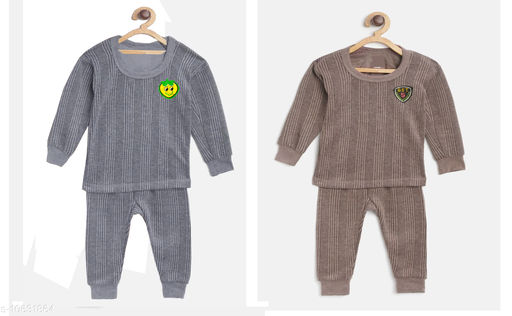 Thermals Kid's Unisex Thermal Set Pack Of 2 Fabric: Cotton Sleeve Length: Long Sleeves Type: Set Multipack: 2 Sizes:  3-6 Months (Top Bust Size: 14 in, Top Length Size: 14 in, Bottom Waist Size: 14 in, Bottom Length Size: 14 in, Bottom Hip Size: 14 in)  4-5 Years (Top Bust Size: 26 in, Top Length Size: 26 in, Bottom Waist Size: 26 in, Bottom Length Size: 26 in, Bottom Hip Size: 26 in)  3-4 Years (Top Bust Size: 26 in, Top Length Size: 26 in, Bottom Waist Size: 24 in, Bottom Length Size: 24 in, Bottom Hip Size: 24 in)  6-12 Months (Top Bust Size: 16 in, Top Length Size: 16 in, Bottom Waist Size: 16 in, Bottom Length Size: 16 in, Bottom Hip Size: 16 in)  12-18 Months (Top Bust Size: 18 in, Top Length Size: 18 in, Bottom Waist Size: 18 in, Bottom Length Size: 18 in, Bottom Hip Size: 18 in)  18-24 Months (Top Bust Size: 20 in, Top Length Size: 20 in, Bottom Waist Size: 20 in, Bottom Length Size: 20 in, Bottom Hip Size: 20 in)  2-3 Years (Top Bust Size: 22 in, Top Length Size: 22 in, Bottom Waist Size: 22 in, Bottom Length Size: 22 in, Bottom Hip Size: 22 in)  Sizes Available: 2-3 Years, 3-4 Years, 4-5 Years, 0-6 Months, 3-6 Months, 6-9 Months, 6-12 Months, 9-12 Months, 12-18 Months, 18-24 Months, 0-1 Years, 1-2 Years *Proof of Safe Delivery! Click to know on Safety Standards of Delivery Partners- https://ltl.sh/y_nZrAV3  Catalog Rating: ★3.8 (558)  Catalog Name: Smarty Casual Kids Girls Thermals CatalogID_1949055 C62-SC1163 Code: 634-10631864-