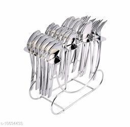 AKOSHA DECENT ITALIAN CUTLERY SET 25 PCS Stainless Steel Cutlery Set ()