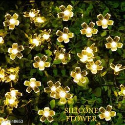 AMEEHA (SET OF 2)SILICON FLOWER LIGHT FOR DECOATION