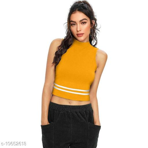 Women's Cotton High Neck Top
