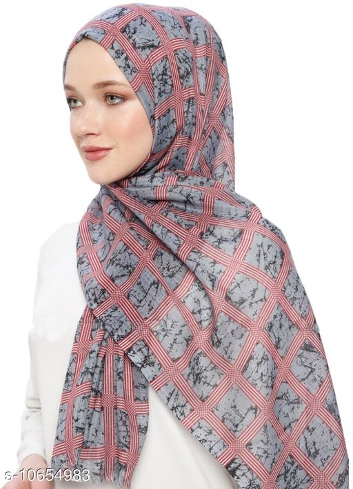 Hijabs JSDC  Women's Pashmina Cotton Printed Hijab Scarf  *Sizes*   *Sizes Available* Free Size *    Catalog Name: Aagam Pretty Hijabs CatalogID_1954690 C72-SC1578 Code: 325-10654983-