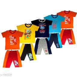 Amazing Cotton Kid's Clothing Set (Pack Of 5)