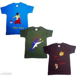 Amazing Cotton Kid's T-Shirts(Pack Of 3)