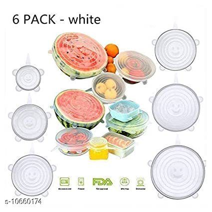 Appliance Covers Lids reusable Flexible Covers  *Mutipack* Silicon  *Pack* Pack of 6  *Sizes Available* Free Size *    Catalog Name: Lids reuseable Flexible Covers CatalogID_1955863 C131-SC1624 Code: 583-10660174-
