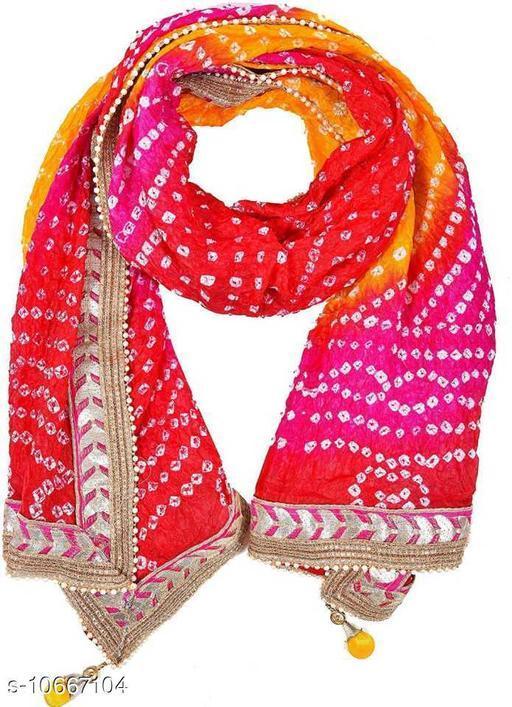 Traditonal Art Silk Bandhani Bandaj 2.25 Metter Dupatta For Women's and Girl's