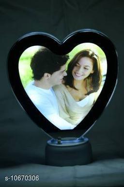 PRINTZILLA Magic Mirror Photo Frame For Home Decor (Heart Shape)