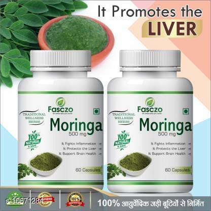Herbal Products Fasczo Moringa capsules for Energy Booster 100% Pure (120 No)  Fasczo Mind Care capsules for enhancing metal power  Ayurvedic  *Capacity * 120 capsule  *Multipack * Pack of 2  *Sizes Available* Free Size *    Catalog Name: Natural Ayurveda Herbal Skin & Hair Care Product   CatalogID_1946388 C52-SC1311 Code: 749-10671284-