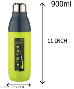 catalogue name : plastic & steel water bottle 900ml