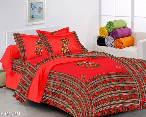 patchwork cotton bedsheet with 2 pillow cover's 180 TC king size