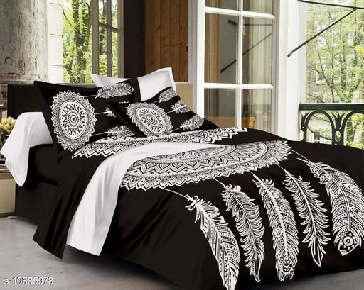 Beautiful Double Bedsheet With Pillow Covers 108_90 27_17