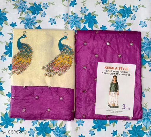 Lehenga Cholis UNSTICHED PATTUPAVADA MATERIAL  *Lehenga Fabric* Silk  *Sizes*  11-12 Years  *Sizes Available* 9-10 Years, 11-12 Years *    Catalog Name: Agile Classy Kids Girls Lehanga Cholis CatalogID_1962270 C61-SC1137 Code: 266-10686269-