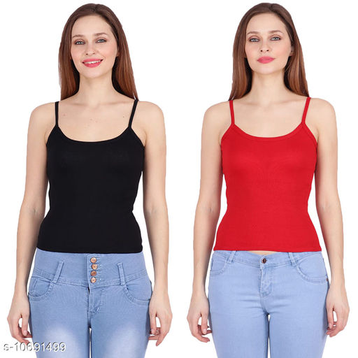 Camisoles Camisoles  *Fabric* Cotton  *Pattern* Colorblocked  *Multipack* 2  *Sizes*  Free Size  *Sizes Available* Free Size *    Catalog Name: Fancy Women Camisoles CatalogID_1963446 C76-SC1047 Code: 802-10691499-