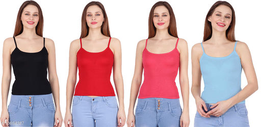 Camisoles Comisoles  *Fabric* Cotton  *Pattern * Solid  *Multipack* 4  *Sizes*  Free Size  *Sizes Available* Free Size *    Catalog Name: Comfy Women Camisoles CatalogID_1964191 C76-SC1047 Code: 853-10694387-